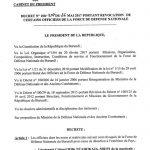 Révocation de 23 officiers de la FDNB pour désertion (décret)