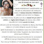 Cérémonies d'adieu à Madame MIREREKANO Geneviève ce samedi 3 juin à Louvain La Neuve