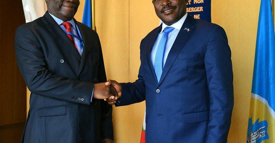 L' Ambassadeur Basile IKOUEBÉ, Congolais, nouveau Représentant de l'Union Africaine au Burundi et dans la Région des Grands Lacs.