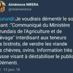 Fake news : Démentis du Ministère burundais de l'Agriculture, concernant une épidémie de peste ...