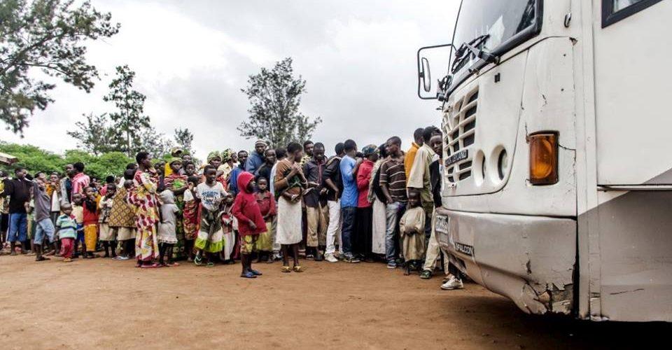 Retour jeudi 25 janvier 2018 de 800 réfugiés burundais venant de Tanzanie