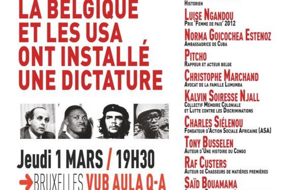 """Investig'Action présente le livre de Ludo De Witte """"L'ascension de Mobutu"""", avec dans l'ombre les assassinats de feu Lumumba et feu Rwagasore."""