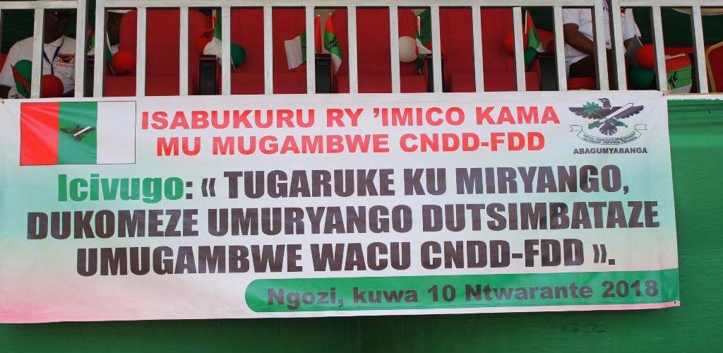 Festival du CNDD-FDD à Ngozi avec pour thème : Revalorisons les clans du Burundi, consolidons le parti CNDD-FDD