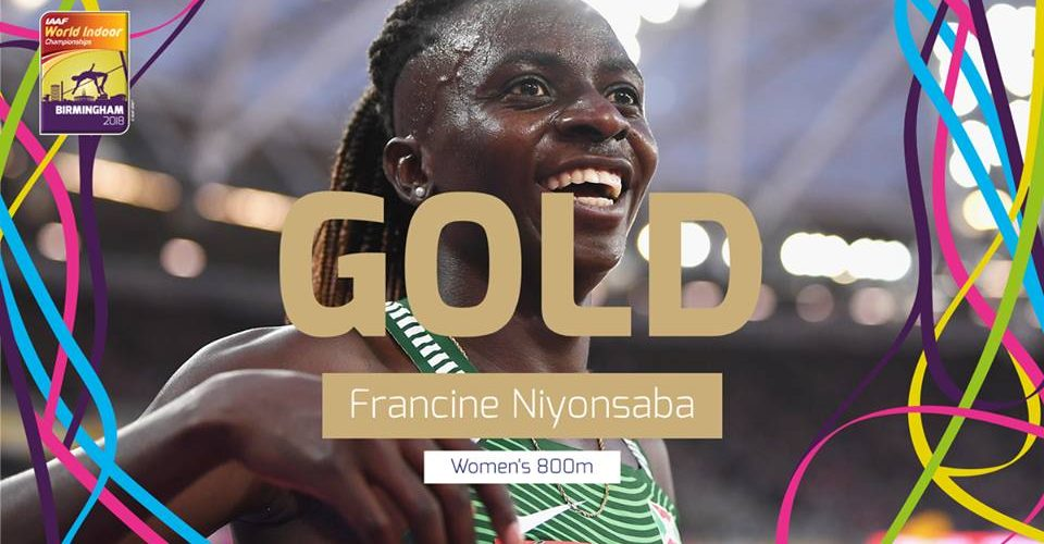 Burundi :  Niyonsaba Francine décroche l'or à Birmingham 800m DAMES