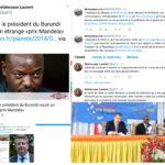 Le Président du Burundi Pierre NKURUNZIZA  reçoit  le - Prix Mandela du courage -  à Paris, en France : L'Ambassadeur de France au Burundi frustré, réagit et réalise le Tweet de trop...