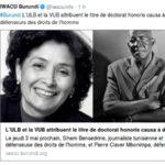 Burundi : REVOLUTION COLOREE – L'ULB-VUB titre Pierre Claver MBONIMPA