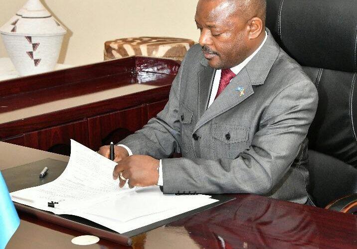 Burundi : Promulgation de la nouvelle constitution ce jeudi 7 juin 2018 à Gitega