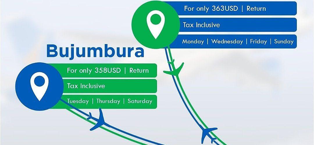 Burundi : Début des vols d'AIR TANZANIA  DAR ES SALAM – BUJUMBURA  le Jeudi 30 août 2018