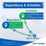 Burundi : Début des vols d'AIR TANZANIA  DAR ES SALAM - BUJUMBURA  le Jeudi 30 août 2018