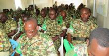 Causerie morale du Commandant 11ème Contingent à son staff et les appuis