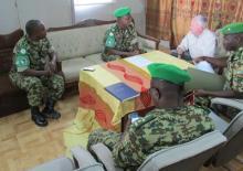 Le représentant du Département d'Etat Américain a rendu visite au 11ème contingent Burundais