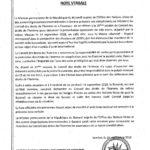 ONU / Burundi :  Note Verbale concernant des fugitifs burundais présents au Palais des Nations à Genève