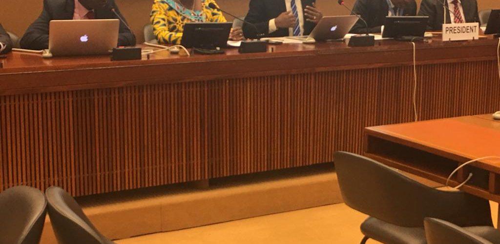 ONU / BURUNDI : Le groupe Afrique du Conseil des Droits de l'Homme ONU réuni autour de la délégation burundaise