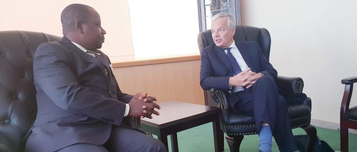 Burundi : Le Ministre Ezechiel Nibigira rencontre à l'ONU le Ministre belge Reynders