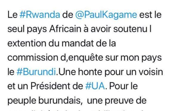 DH-ONU : Pour l'Ombudsman du Burundi, le Rwanda déshonore l'Afrique par son soutien à la Résolution HRC39 émise par les Européens