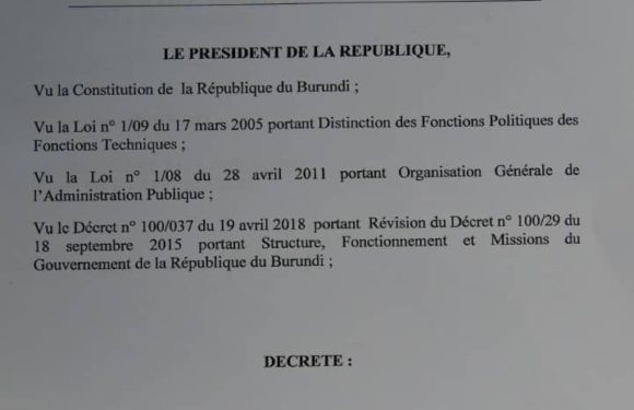 Burundi :  Frédéric Nahimana,  Amizero Y'Abarundi, nouveau  Ministre burundais de la COM