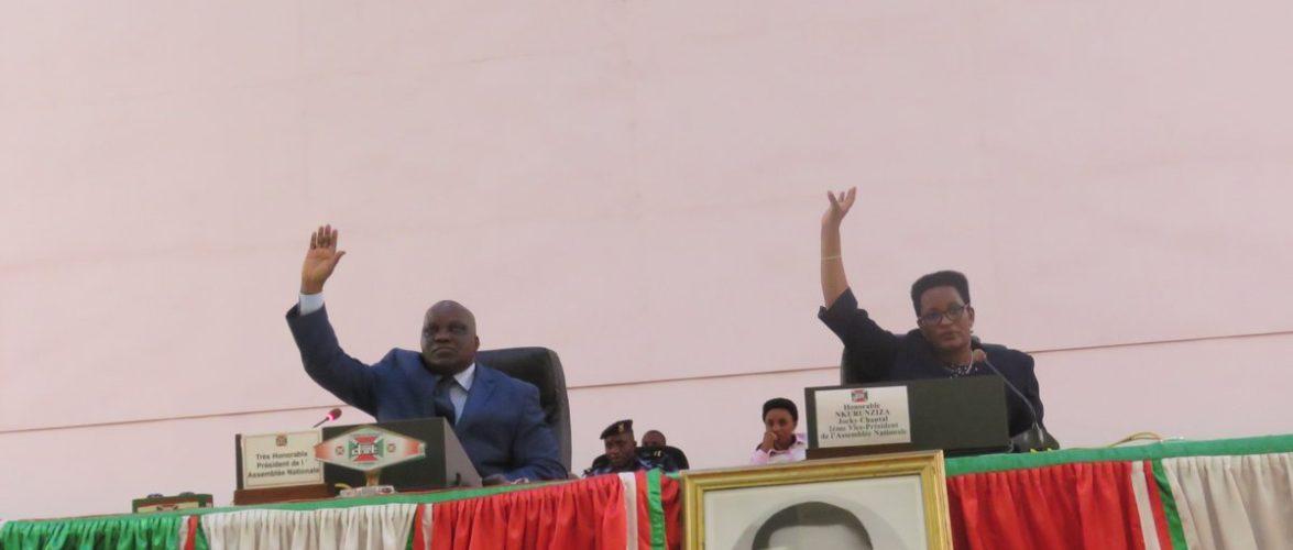 Le parlement burundais adopte le projet de loi relatif à l'accord de don No D276-BI