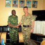 Visite d'une équipe britannique à l'Etat-major Général de la FDNB