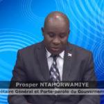 Le gouvernement burundais rejete la résolution du Conseil des droits de l'homme reconduisant le mandat de la Commission d'Enquête sur le Burundi