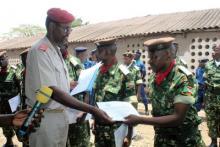 Trente-neuf sous-officiers brevetés en administration et logistique