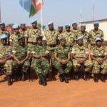 Visite du Chef de FDNB au Contingent Burundais de la MINUSCA