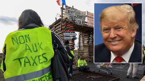 Gilets jaunes: Trump se moque des concessions faites par Macron