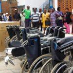Début de la distribution du matériel de l'ONG Handicap International au Burundi destinée aux ONGs locales