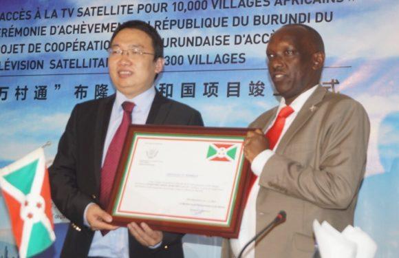 300 villages Burundais vont avoir accès à la télévision satellitaire grâce a l'appui de la Chine