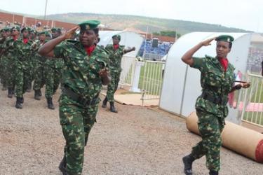 Les femmes militaires burundaises ont participé à la célébration de la journée internationale de la femme
