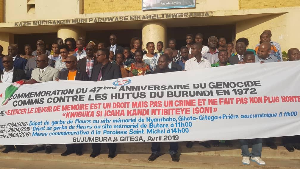 Photo : Collectif des Survivants et Victimes du Génocide contre les Bahutu en 1972 au Burundi