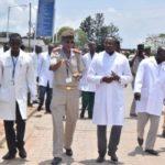 Le Ministre de la santé effectue une visite dans les différents hôpitaux de référence