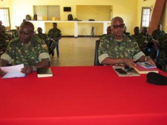 Les officiers des Etats-majors Brigades dans l'exercice « CPX »