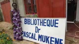 Bibliothèque Dr Pascal Mukene : Hommage post mortem d'une veuve