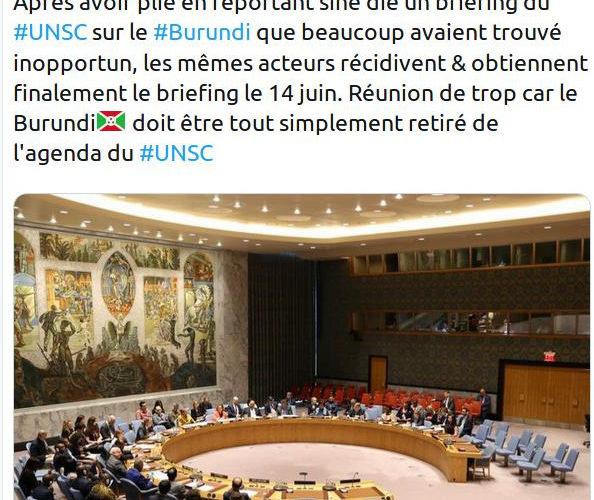 5 pays Européens obtiennent un briefing sur le Burundi au Conseil de Sécurité de l'ONU pour le vendredi 14 juin 2019