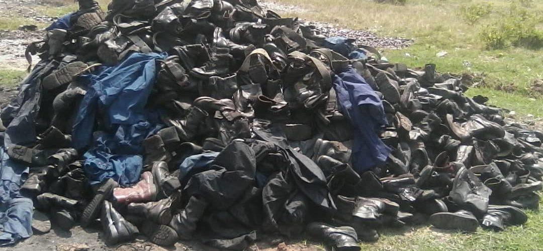 Burundi : Destruction des effets militaires des agents de sécurités