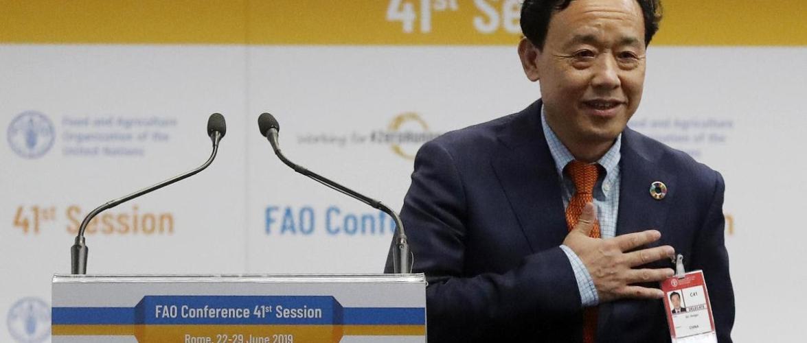 ONU : Qu Dongyu le Chinois dirigera la FAO