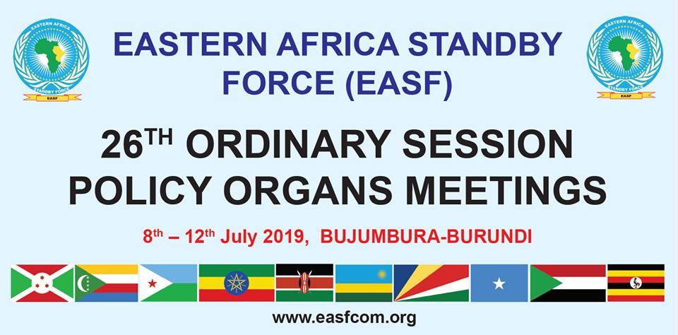 Burundi : 26ème session ordinaire de l'organe politique de l'EASF du 8 au 12 juillet 2019, à Bujumbura