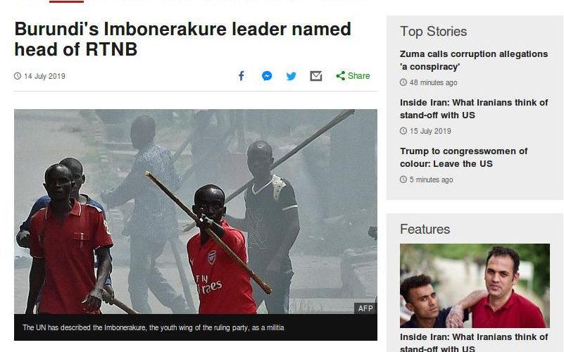 Guerre humanitaire : La BBC prise encore à défaut avec de fausses images contre le Burundi