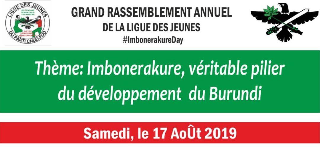 Burundi : Grand rassemblement annuel de la ligue des jeunes du CNDD-FDD – IMBONERAKURE