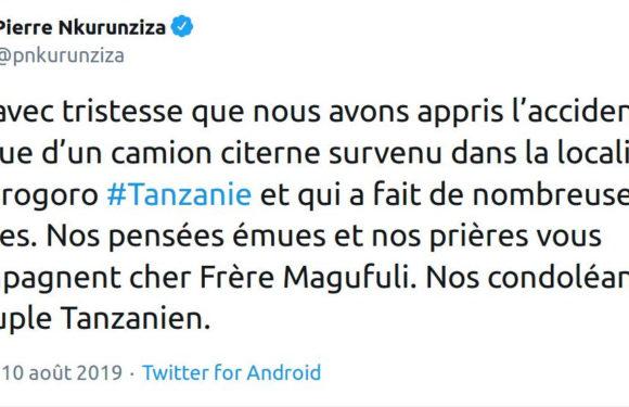 Drame suite à un accident de camion citerne en Tanzanie : Le Chef d'état du Burundi remet ses condoléances au peuple frère Tanzanien