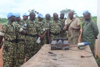 Formation des officiers sur la logistique des Nations Unies