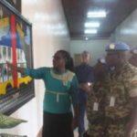 Visite du commandant du contingent burundais de la MINUSCA à l'hémicycle du parlement de la RCA
