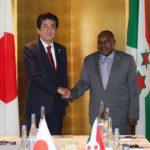 Burundi / Japon : Le Vice Président BUTORE reçu par le 1er Ministre Japonnais ,M. ABE SHINZO