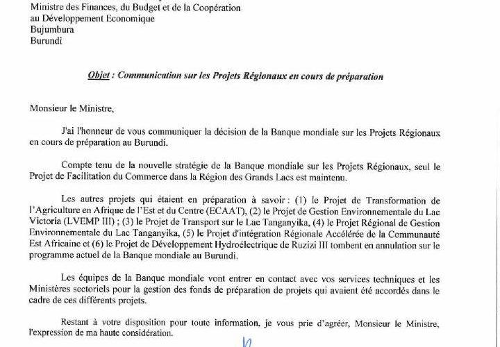 Pourquoi un Français pour s'occuper des affaires Africaines, notamment du Burundi, à la Banque Mondiale ?