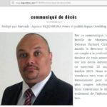Burundi : Bruxelles - Communiqué de décès de Monsieur Delvaux Richard CIRAMUNDA, directeur de l'Agence BUJUMBURA News.