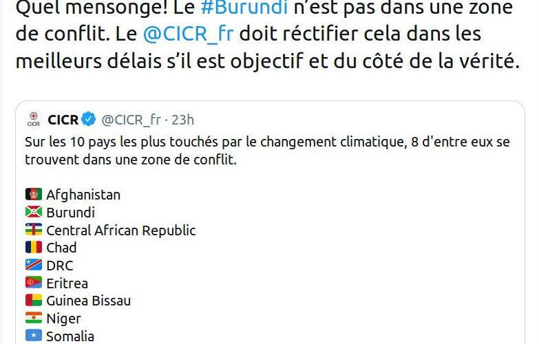 Guerre Humanitaire contre le Burundi : La malhonnête Croix Rouge Internationale FRANCE