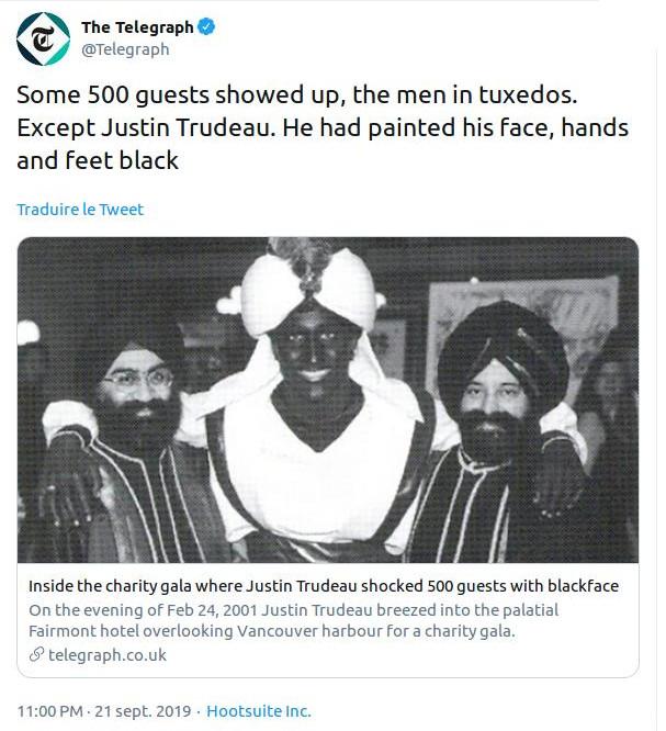 The Blackface case - Justin TRUDEAU, CANADA