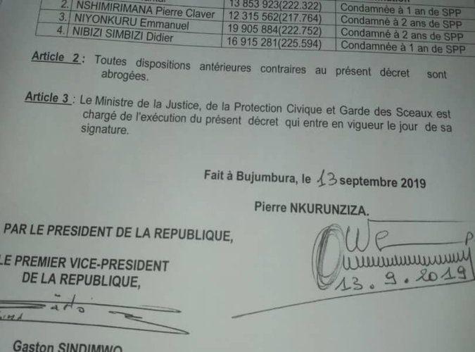 Burundi : Révocation de 4 magistrats corrompus récidivistes