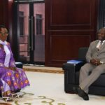 Le Président du Burundi reçoit la soeur de Feu RWAGASORE en cette période de commémoration du 58ème anniversaire de l'assassinat de Feu le MUGANWA Louis RWAGASORE