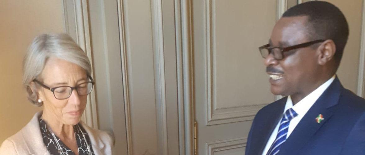 Présentation des copies figurées des lettres de créances du nouveau – Ambassadeur du Burundi – en Belgique, l'ambassadeur NTAHIRAJA Thérence.